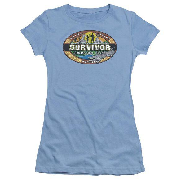 Survivor Redemption Island Short Sleeve Junior Sheer Carolina T-Shirt