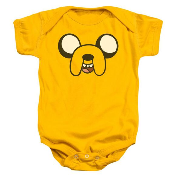 Adventure Time Jake Head Infant Snapsuit Gold