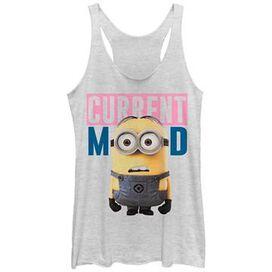 Despicable Me Minion Mood Tank Top Juniors T-Shirt