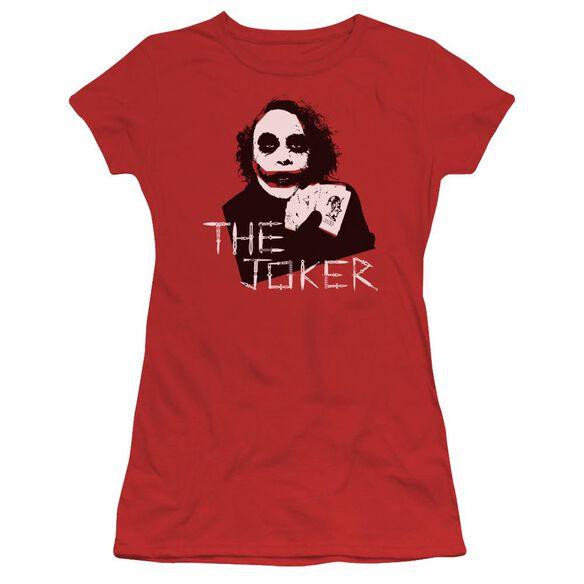 Dark Knight Dagger Clown Short Sleeve Junior Sheer T-Shirt