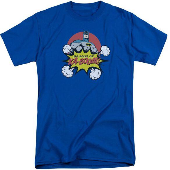 Dc Kaboom Short Sleeve Adult Tall Royal T-Shirt