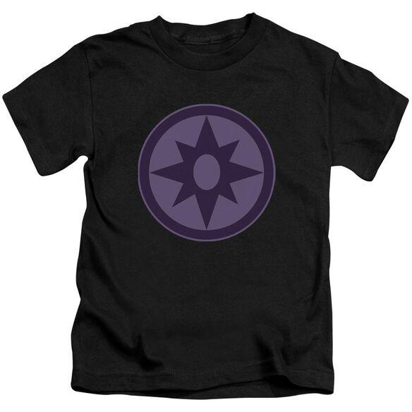 Green Lantern Sapphire Symbol Short Sleeve Juvenile Black T-Shirt