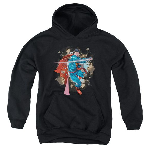 Superman Rock Breaker Youth Pull Over Hoodie