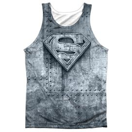 Superman Made Of Steel Adult 100% Poly Tank Top
