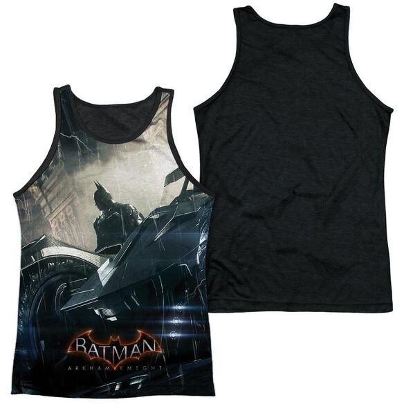 Batman Arkham Knight Into The Night Adult Poly Tank Top Black Back