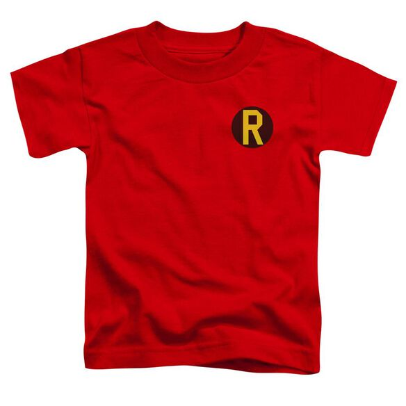 Dc Robin Logo Short Sleeve Toddler Tee Red T-Shirt