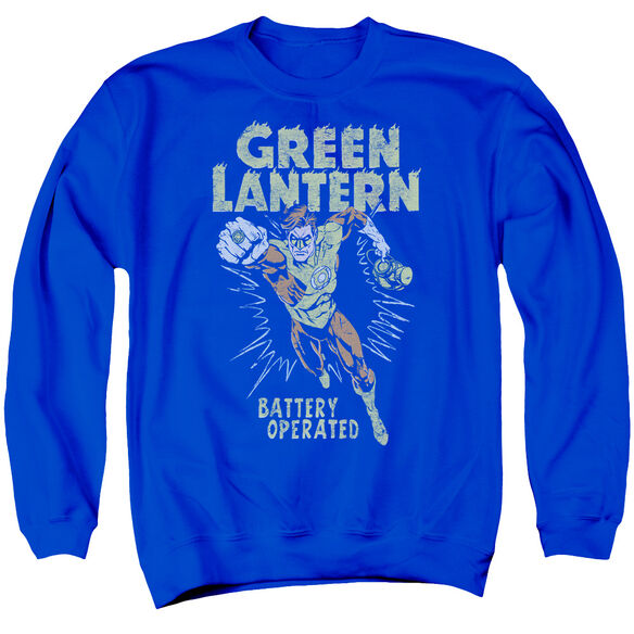 Green Lantern Fully Charged - Adult Crewneck Sweatshirt - Royal Blue
