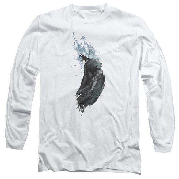 BATMAN WASH - L/S ADULT 18/1 - WHITE T-Shirt