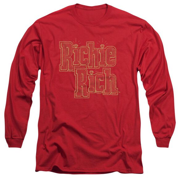 Richie Rich Stacked Long Sleeve Adult T-Shirt