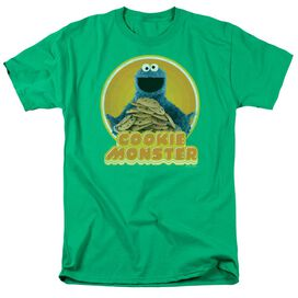 Sesame Street Cookie Iron On Short Sleeve Adult Kelly T-Shirt
