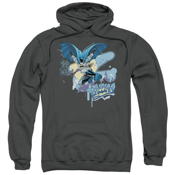 Batman Into The Night Adult Pull Over Hoodie