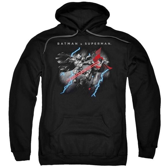 Batman V Superman Lightning Fight Adult Pull Over Hoodie