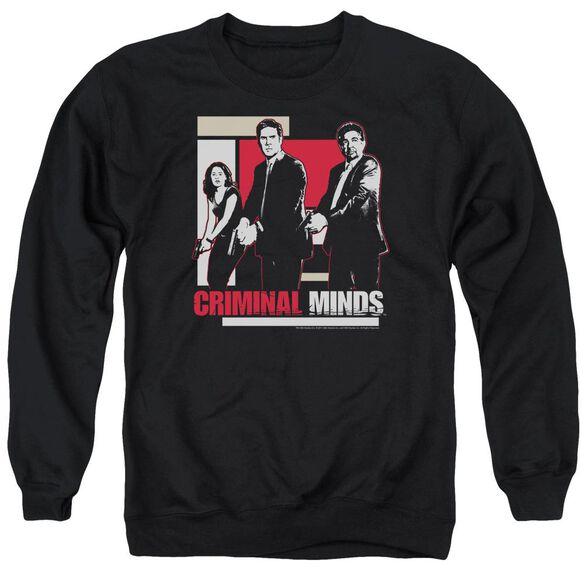 Criminal Minds Guns Drawn Adult Crewneck Sweatshirt