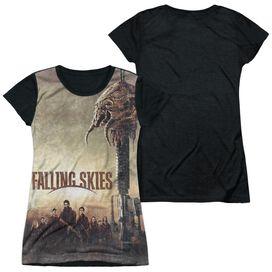 Falling Skies Skitter Head Short Sleeve Junior Poly Black Back T-Shirt
