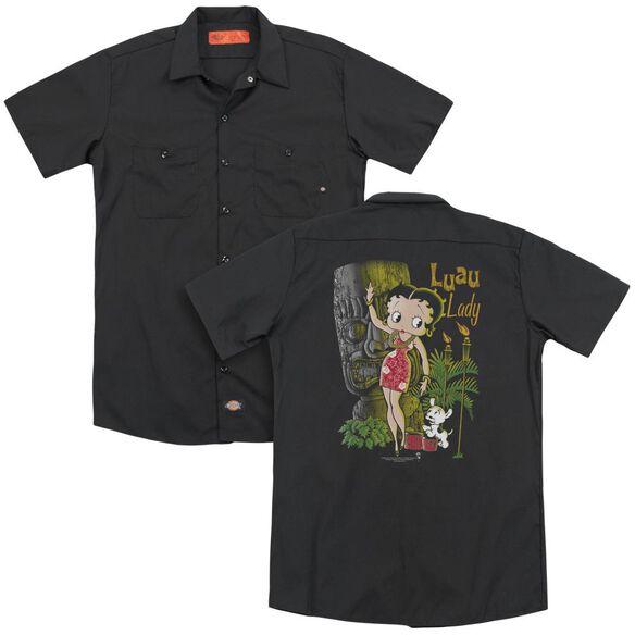 Betty Boop Luau Lady (Back Print) Adult Work Shirt