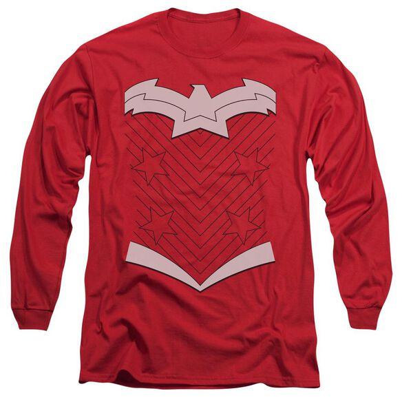 Jla New Ww Uniform Long Sleeve Adult T-Shirt