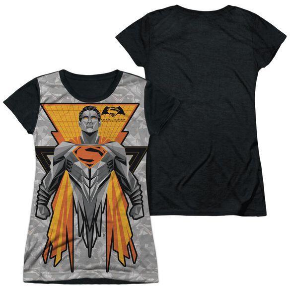 Batman V Superman Super Tech Sub Short Sleeve Junior Poly Black Back T-Shirt