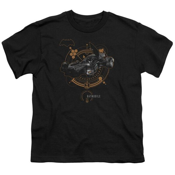 Justice League Movie Batmobile Short Sleeve Youth T-Shirt