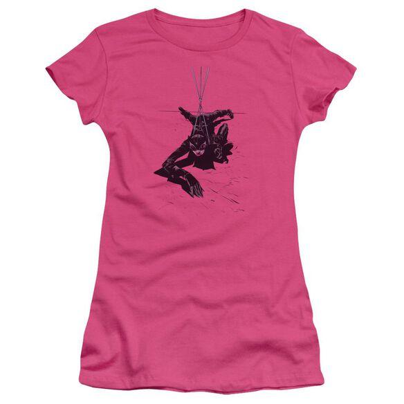 BATMAN CATWOMAN ROPE - S/S JUNIOR SHEER - HOT PINK T-Shirt