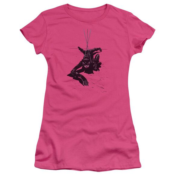 Batman Catwoman Rope Short Sleeve Junior Sheer Hot T-Shirt