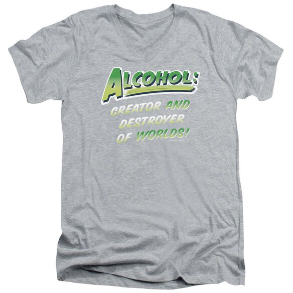 Creator And Destroyer Short Sleeve Adult V Neck Athletic T-Shirt