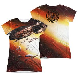 Bsg (New) Fleet Of Humanity (Front Back Print) Short Sleeve Junior Poly Crew T-Shirt