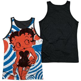 Betty Boop Mod Rings Adult Poly Tank Top Black Back