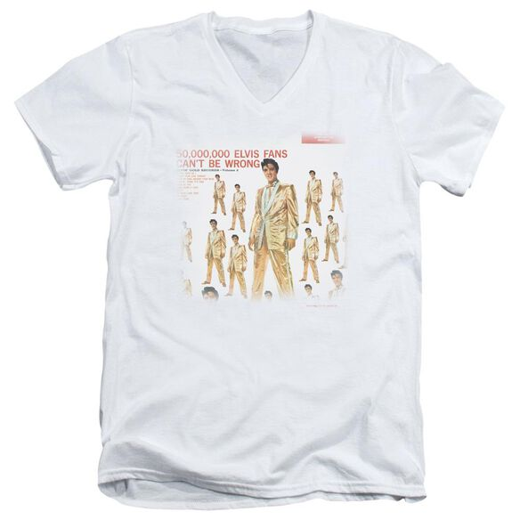 Elvis 50 Million Fans Short Sleeve Adult V Neck T-Shirt