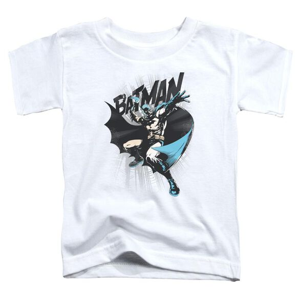 Batman Batarang Throw Short Sleeve Toddler Tee White T-Shirt
