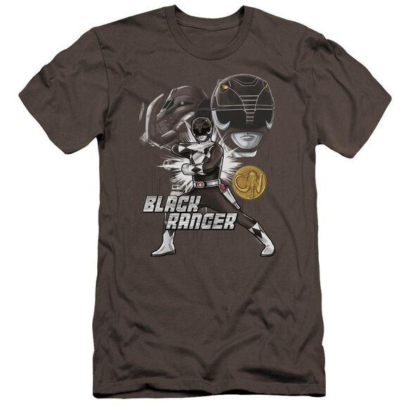 Power Rangers Black Ranger Hbo Short Sleeve Adult T-Shirt