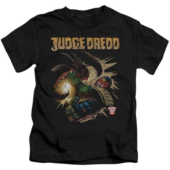 Judge Dredd Blast Away Short Sleeve Juvenile Black T-Shirt
