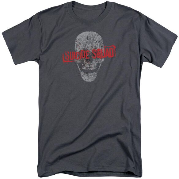 Suicide Squad Skull Short Sleeve Adult Tall T-Shirt