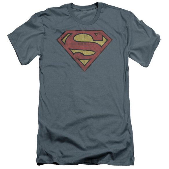 Superman Gritty Shield Premuim Canvas Adult Slim Fit