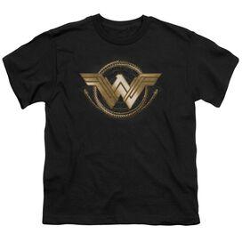 Wonder Woman Movie Lasso Logo Short Sleeve Youth T-Shirt