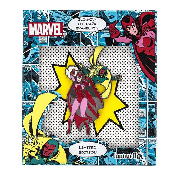 Loungefly Marvel Scarlet Witch & Vision Limited Edition Glow in the Dark Enamel Pin With Collector Box