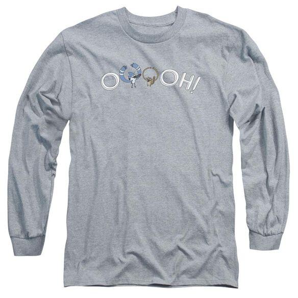The Regular Show Ooooh Long Sleeve Adult Athletic T-Shirt