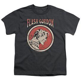 Flash Gordon Flash Circle Short Sleeve Youth T-Shirt