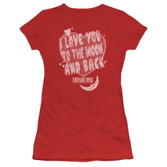 Moon Pie I Love You Short Sleeve Junior Sheer T-Shirt
