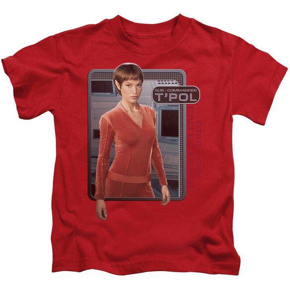 Star Trek T'pol Short Sleeve Juvenile Red T-Shirt