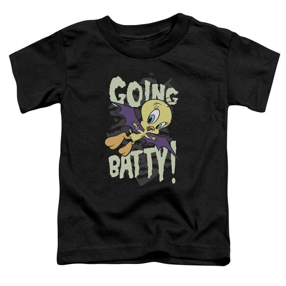 Looney Tunes Going Batty Short Sleeve Toddler Tee Black T-Shirt