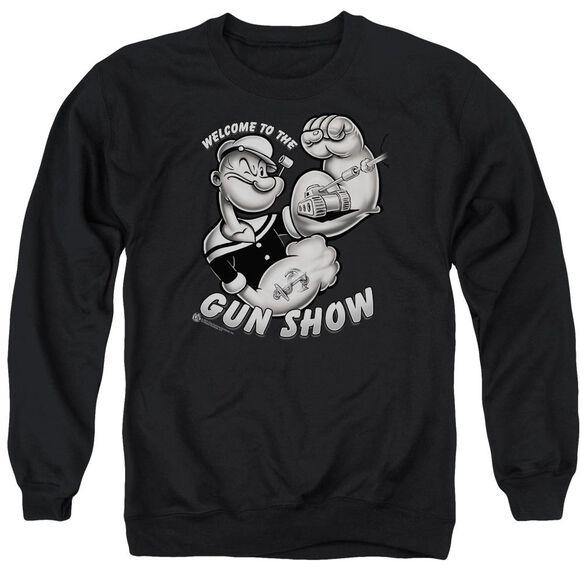Popeye Gun Show - Adult Crewneck Sweatshirt - Black