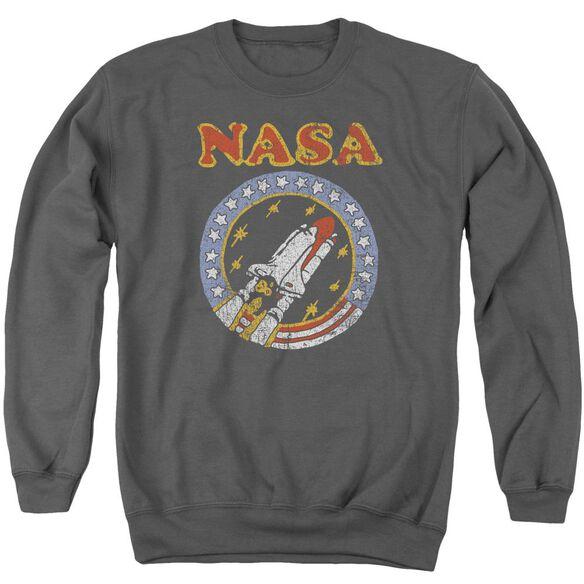Nasa Retro Shuttle Adult Crewneck Sweatshirt