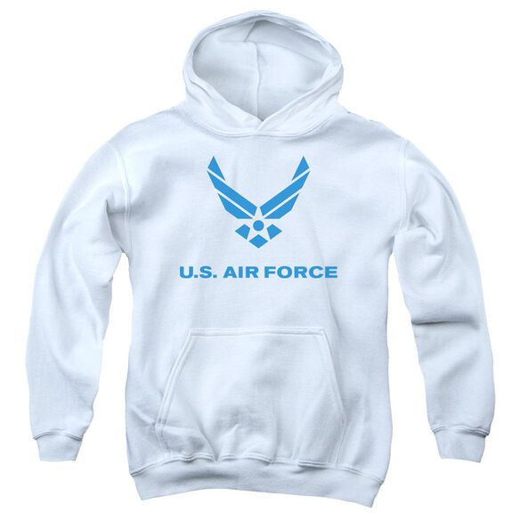 Air Force Distressed Logo Youth Pull Over Hoodie