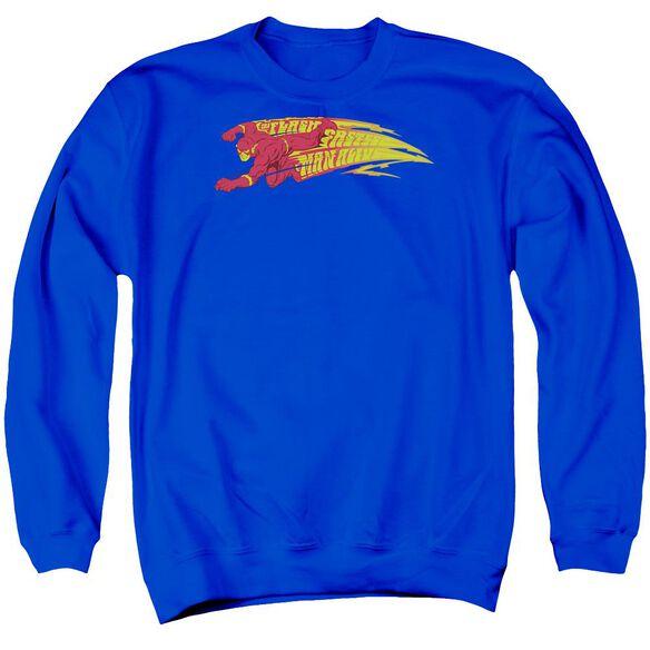 Dc Fastest Man Alive Adult Crewneck Sweatshirt Royal