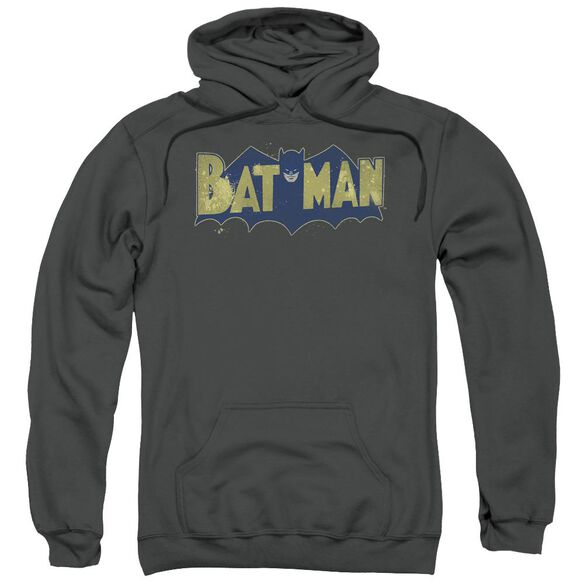 Batman Vintage Logo Splatter Adult Pull Over Hoodie