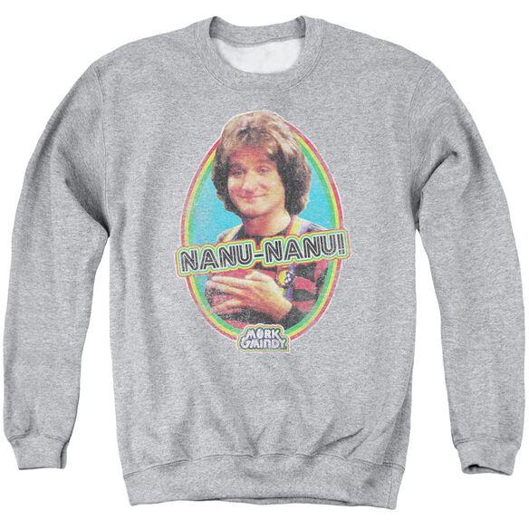 Mork &Amp; Mindy Nanu Nanu Adult Crewneck Sweatshirt Athletic