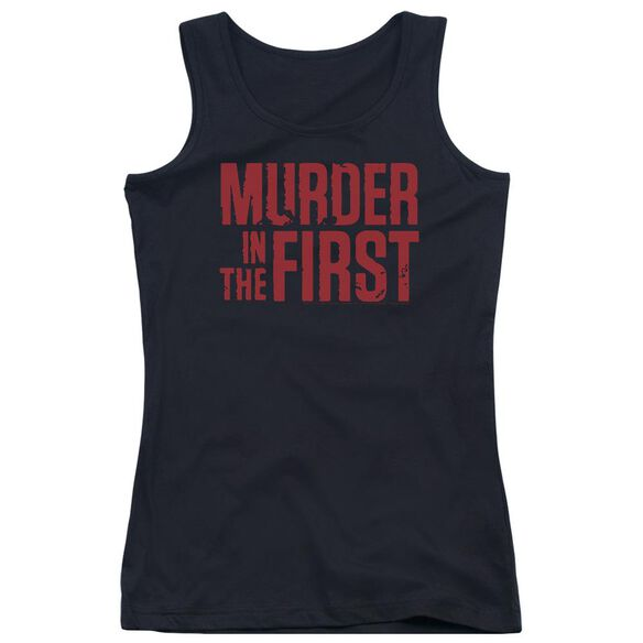 Murder In The Frist Stacked Logo Juniors Tank Top