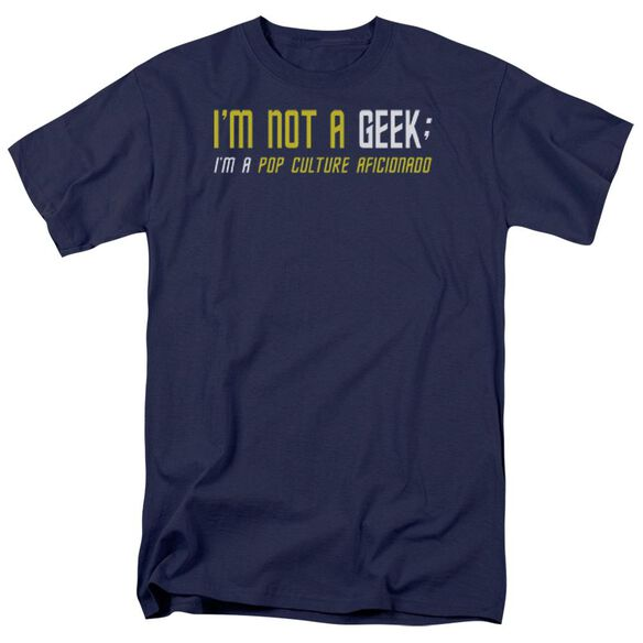 Not A Geek Short Sleeve Adult Navy T-Shirt