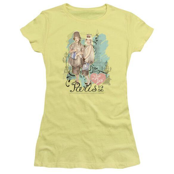 I Love Lucy Paris Dress Short Sleeve Junior Sheer T-Shirt