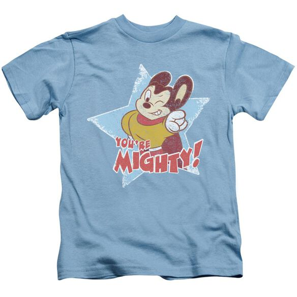 Mighty Mouse You're Mighty Short Sleeve Juvenile Carolina Blue T-Shirt